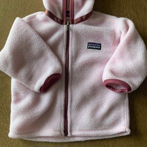 Pink Patagonia Baby Fleece w Contrast Piping 6m